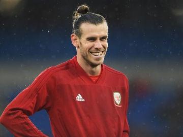 Gareth Bale con la selección de Gales