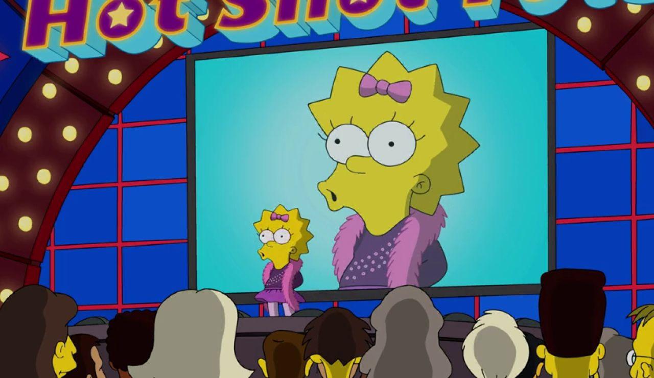 Homer presenta a Maggie a un concurso de talentos