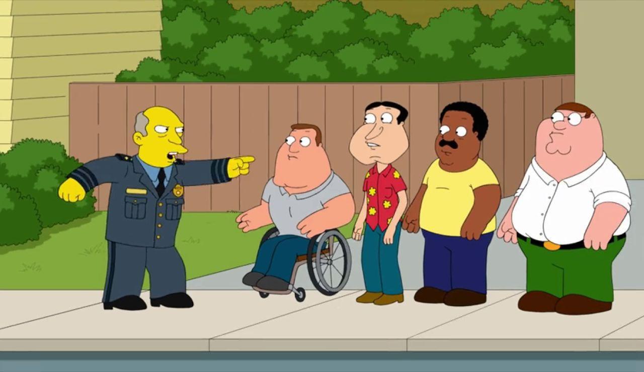 El superintendente Chalmers de 'Los Simpson' se cuela en 'Padre de Familia'