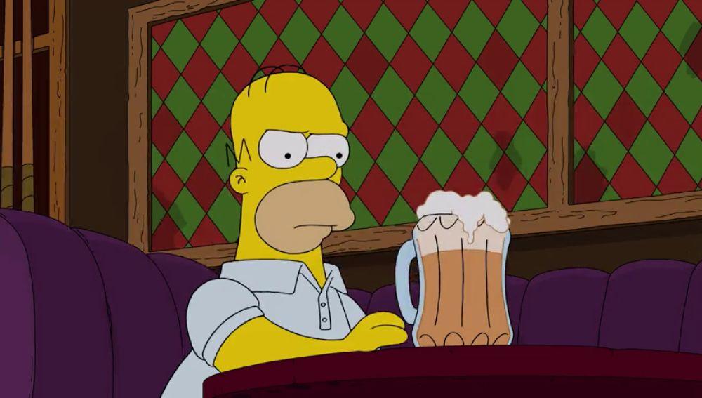 Homer decide dejar de beber para salvar su matrimonio
