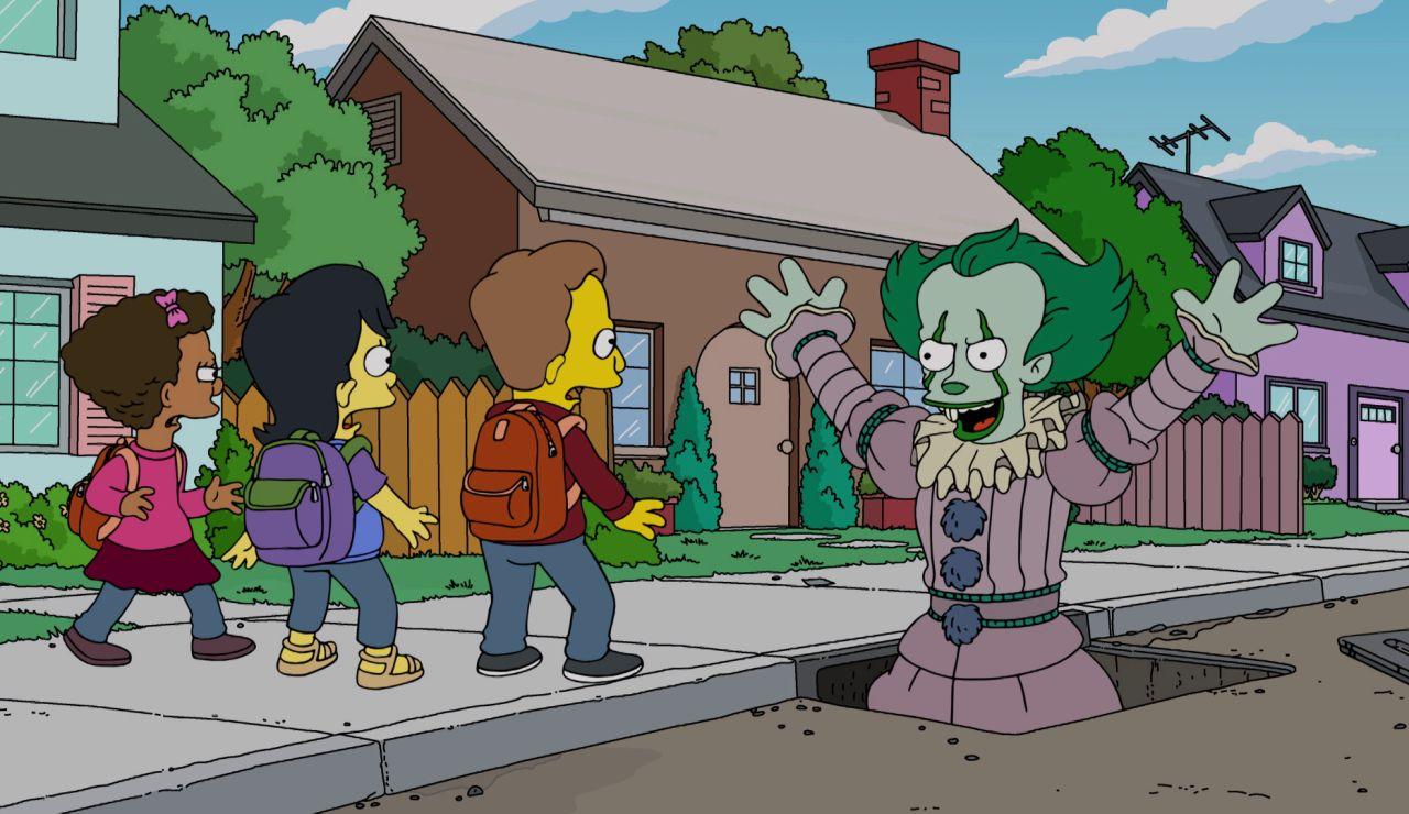 Pennywise, el payaso de la película 'It', se cuela en 'Los Simpson'