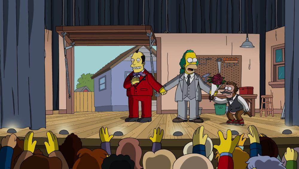 Krusty el payaso deja el humor para convertirse en un actor serio