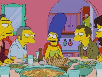 Homer y Marge tratan de conseguir que Moe se reconcilie con su familia