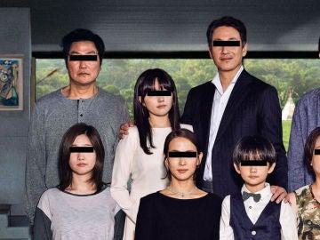 Fragmento del poster oficial de 'Parásitos', la película del surcoreano Bong Joon-ho