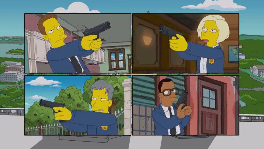 Los Simpson parodian a NAVY: Investigación Criminal