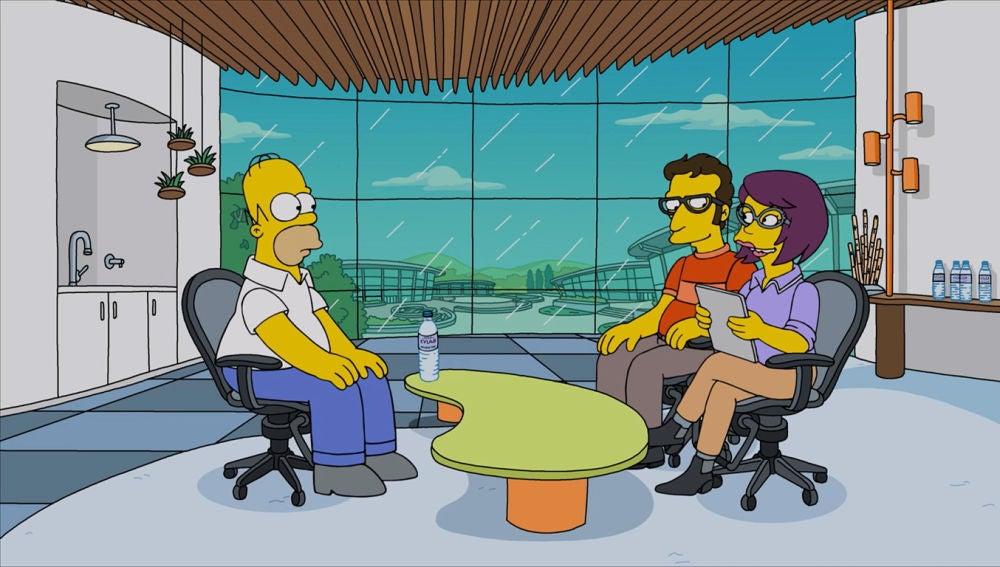 Homer en una entrevista de trabajo