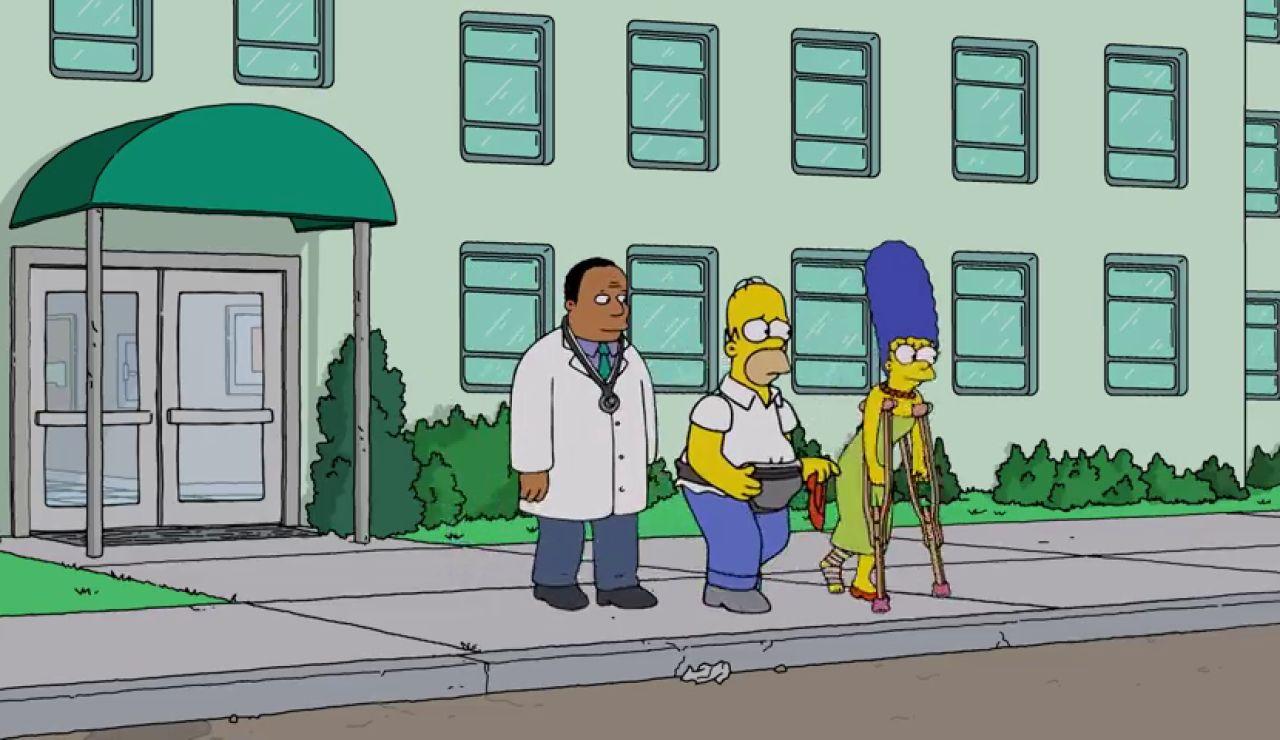 Hommer y Marge terminan su noche romántica en urgencias