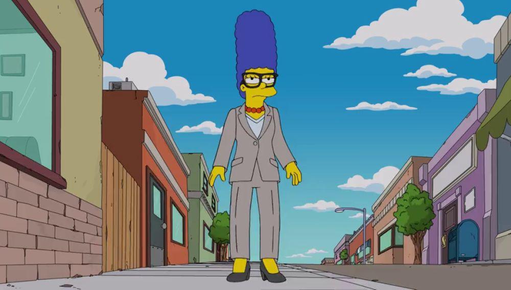 Marge dirige la obra de teatro de Springfield