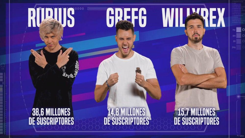 Rubius, Grefg y WillyRex