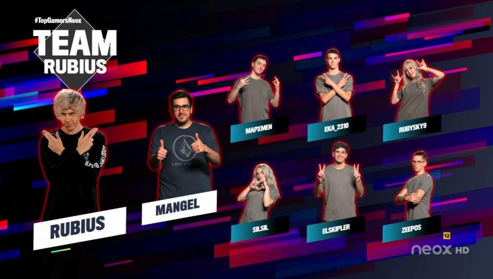 Team Rubius de la primera semana