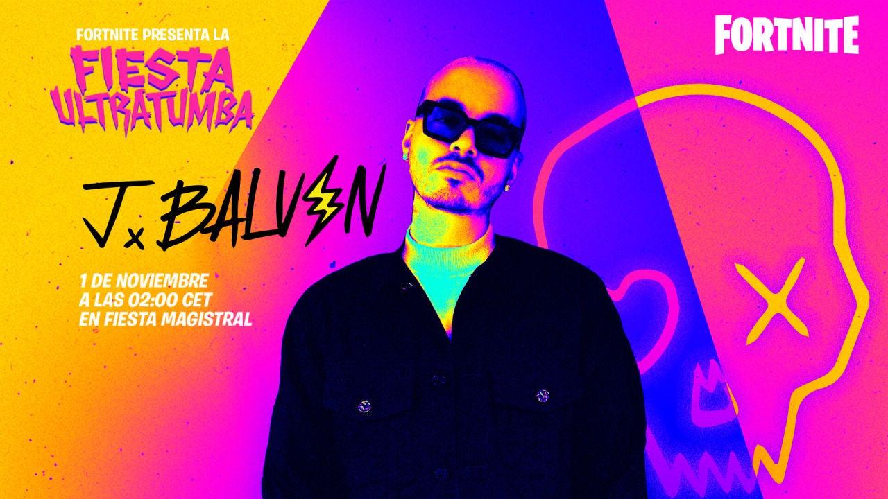 Fortnite marca fecha y hora para el concierto de J Balvin - VÍDEO