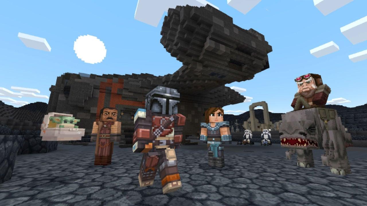 Minecraft da la bienvenida a Star Wars y The Mandalorian con un completo DLC - VÍDEO