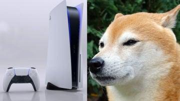 PS5 y Shiba Inu