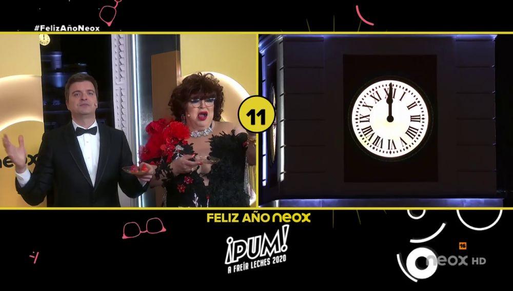 Así se despiden del 2020 Paca La Piraña y Marc Giró en las 'preuvas' de Neox