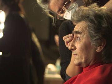 Así se maquillaron David Fernández y Silvia Abril para convertirse en los protagonistas de las 'preuvas'