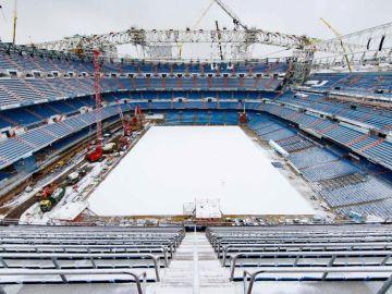 Estadio Santiago Bernabéu nevado (1)