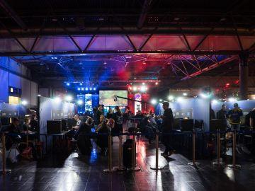 Gamers en un evento
