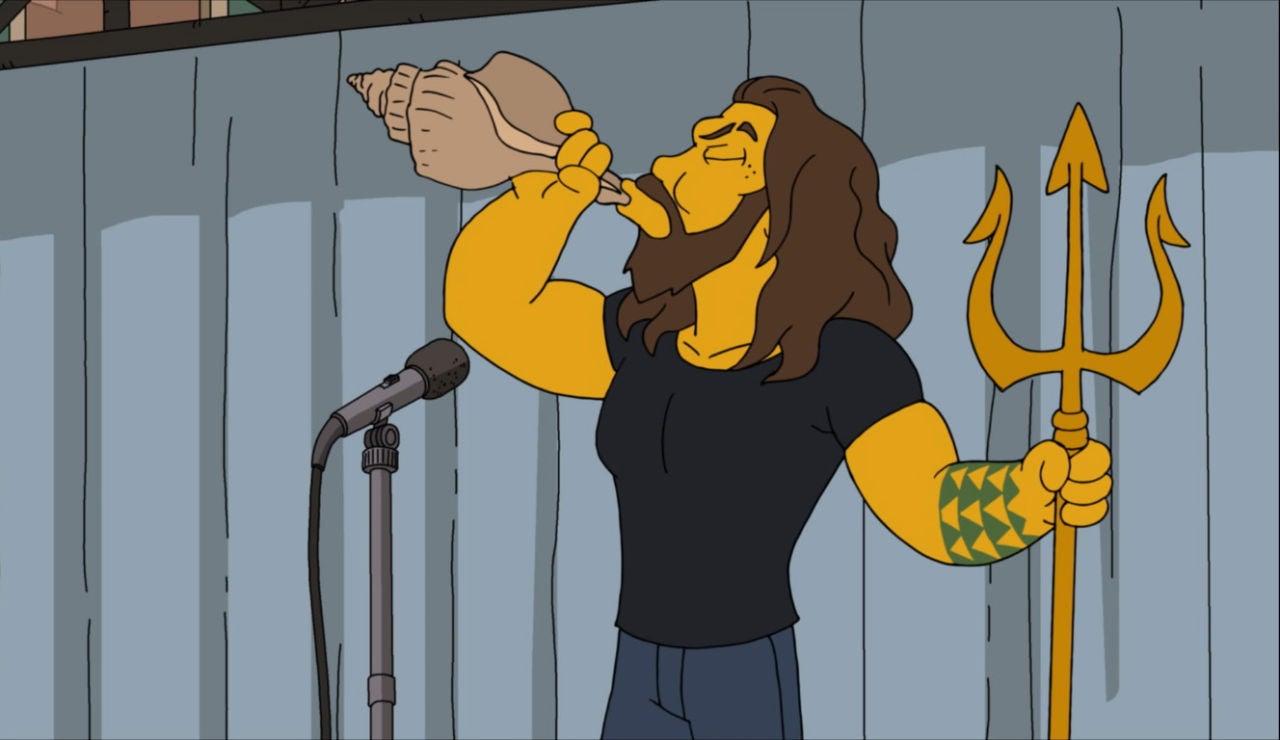 Jason Momoa se cuela en Los Simpson