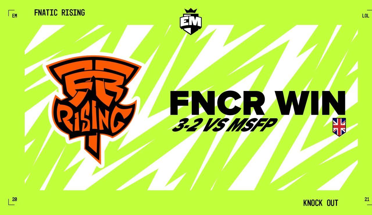 Fnatic Rising avanza a las finales del European Masters