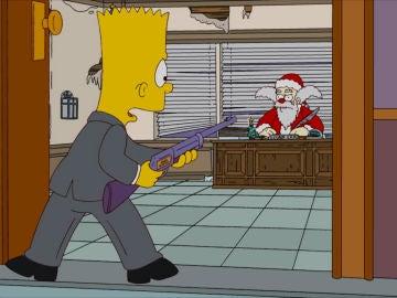 Bart frente a Santa Claus
