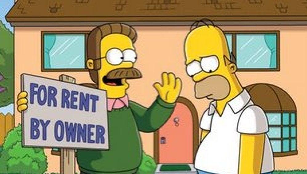 Flanders se convierte en el casero de Los Simpson