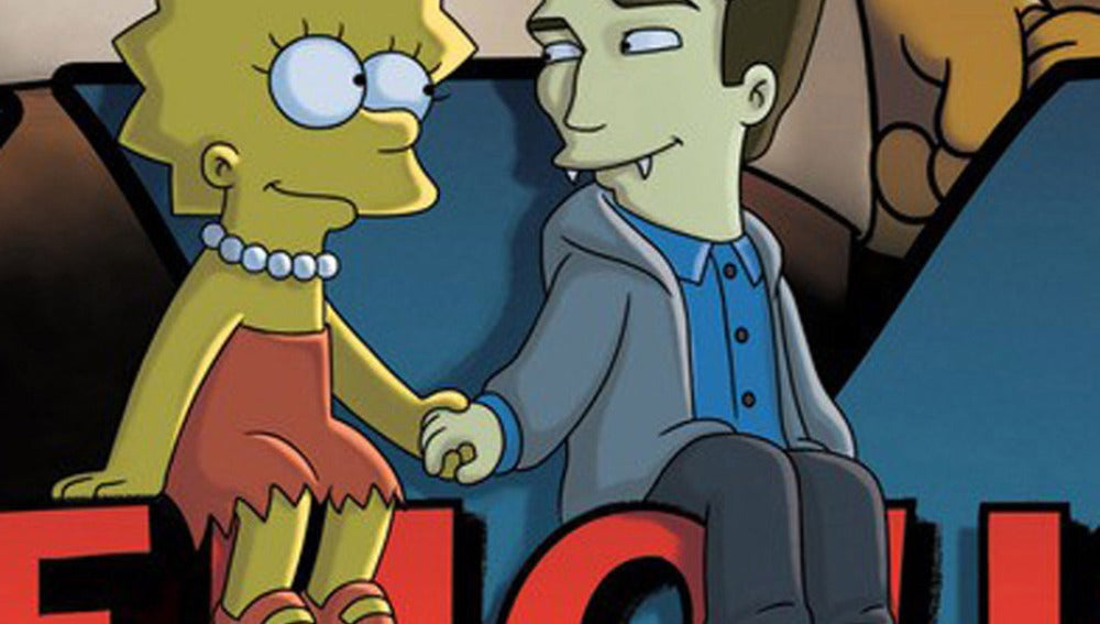 Robert Pattinson de Halloween en 'Los Simpson'