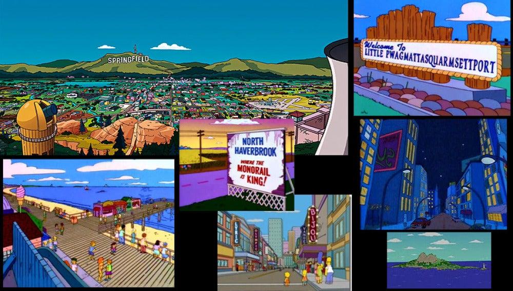 Lugares ficticios en Los Simpson