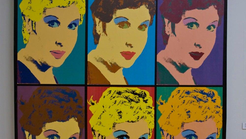 Lina Morgan, al estilo Andy Warhol (1,68x1,83)