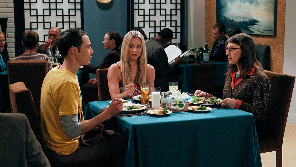Sheldon, Penny y Amy
