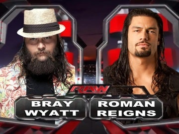 Batalla campal entre Bray Wyatt  y Roman Reings en Raw