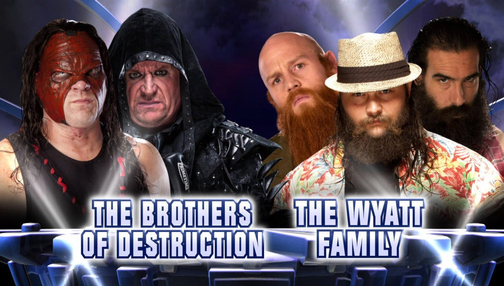 La familia Wyatt se enfrenta a  Undertaker y Kane