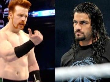 El campeón Sheamus cara a cara con Roman Reigns en 'Raw'