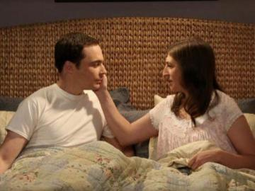 Sheldon y Amy en 'The Big Bang Theory'