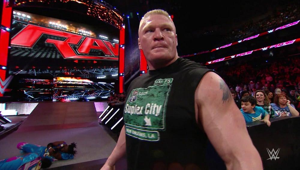 Brock Lesnar vuelve a 'Raw' y tiene hambre de campeón