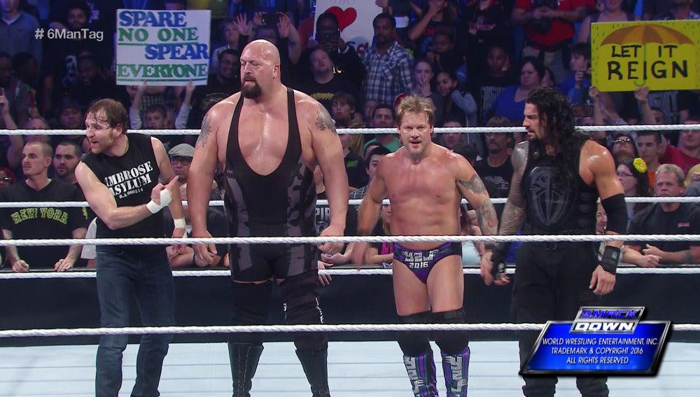 Jericho, Reigns y Ambrose se imponen a The Wyatt Family en 'SmackDown'