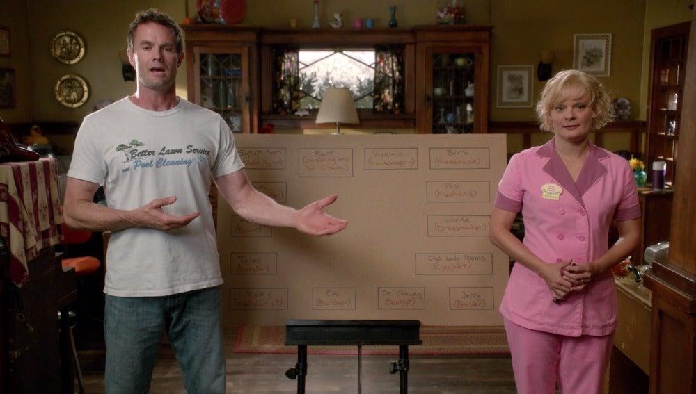 Virgnia y Burt dan una clase acerca del trueque
