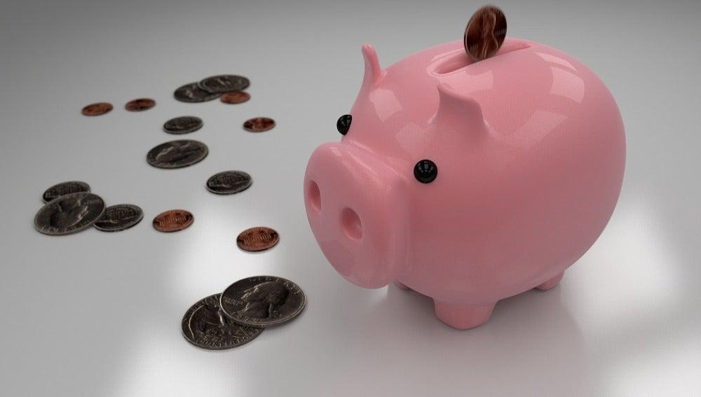 La hucha de ahorrar dinero