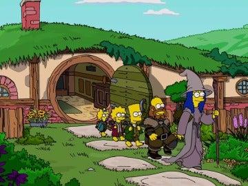 Los Simpson hacen su versión de Hobbit