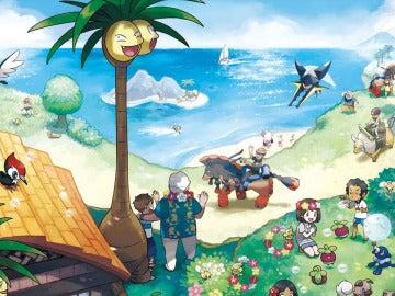 Artwork oficial de Pokémon Sol y Luna