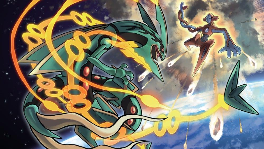 Mega Rayquaza y Deoxys