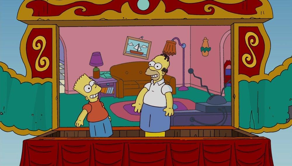 Los Simpson se convierten en marionetas
