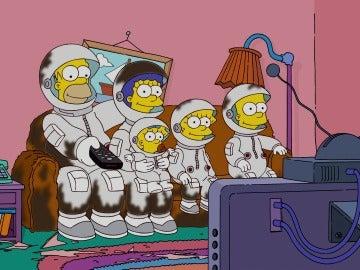 Los SImpson se convierten en astronautas