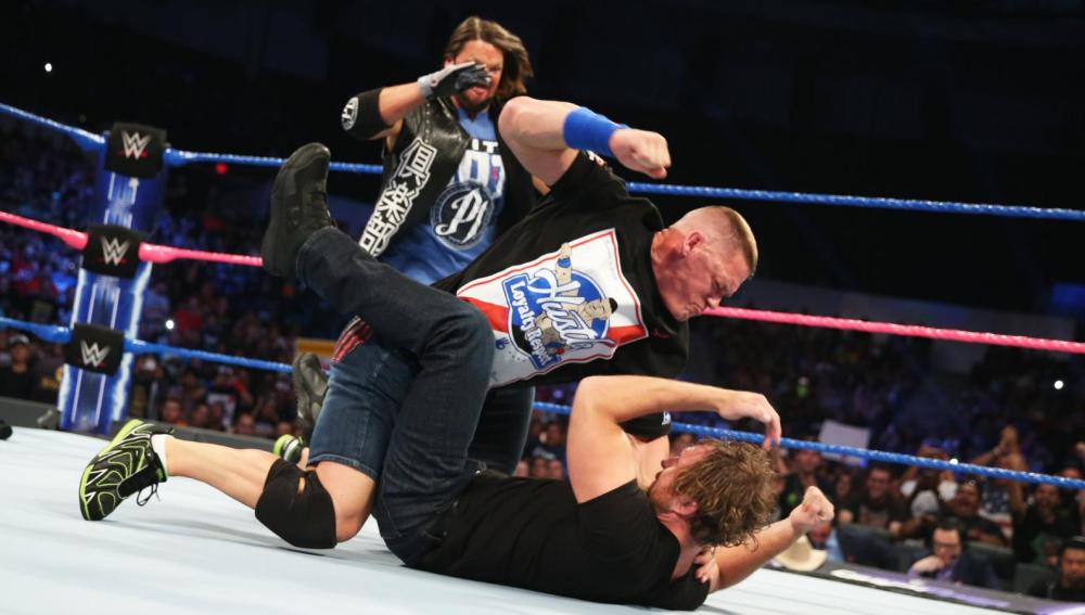 AJ Styles, Ambrose y John Cena se citan para No Mercy en 'SmackDown'