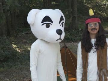Totakeke y presentador de Animal Crossing