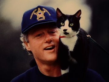 Bill Clinton y Socks