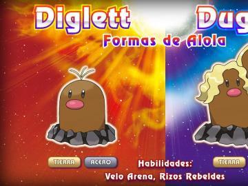 Diglett y Dugtrio de Alola