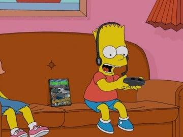 Bart jugando