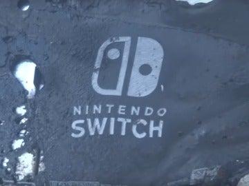 Nintendo Switch calcinada