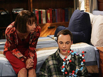 Sheldon Cooper y su madre en 'The Big Bang Theory'