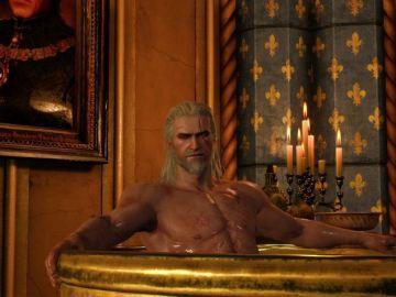 Geralt en el baño